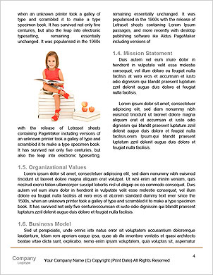 Child climbing stairs Word Template - Page 4