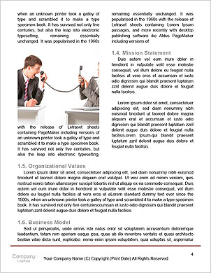 Businessman covering his face with angry mask on gray background Word Template - Page 4