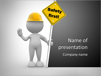 Oil Gas Flare Point Template People Man Person With A Safety First Sign In Hand