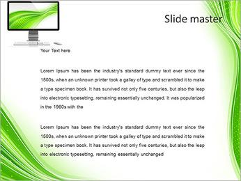 Beyaz zemin üzerine izole beyaz boş bir ekran ile bilgisayar monitörü PowerPoint sunum şablonları