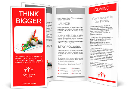 3d business growth graph Brochure Template