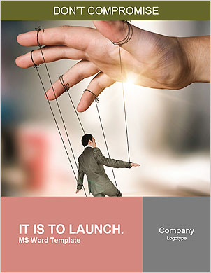 Businessman On Strings. Conceptual photography Word Template - Page 1