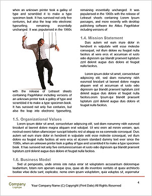 Businessman On Strings. Conceptual photography Word Template - Page 4