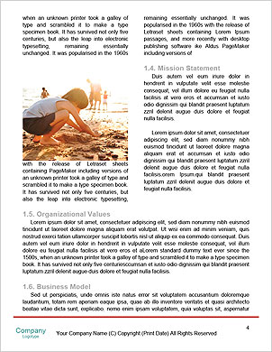 Photo of happy family running down the beach on summer Word Template - Page 4