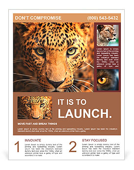 Leopard portrait Flyer Template