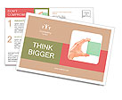 Human hand holding blank sticker/note/paper isolated on white Postcard Template