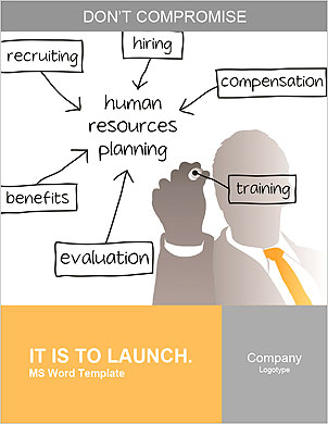 Enterprise HR manager drawing a company human resources business plan Word Template - Page 1