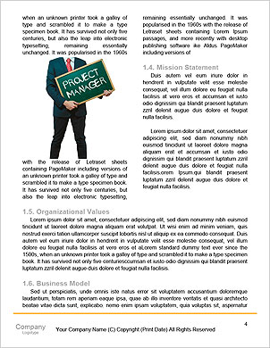 Enterprise HR manager drawing a company human resources business plan Word Template - Page 4