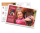 Horse and lovely girl - best friends Postcard Template