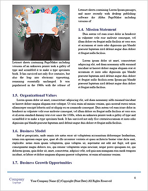 Businessman hand working with new modern computer and business strategy as concept Word Template - Page 4