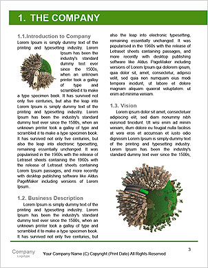 Conceptual miniature planet for environmental change and green energy transportation isolated and wi Word Template - Page 3