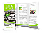 Zen basalt stones and bamboo with dew Brochure Template