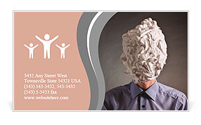The man with foam for shaving on a head Business Card Template