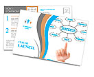 Hand pointing plan success flow chart Postcard Template