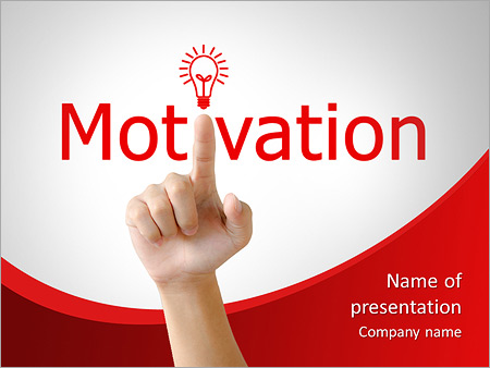 Hand and word motivation  - business concept isolated on