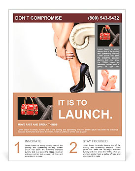 女性の脚とハイヒールの靴 チラシ