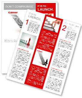 Three dimensional image of a man achieves career Newsletter Template