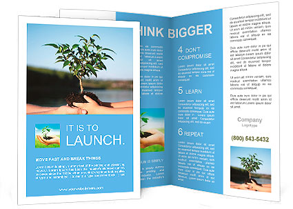 Plant in hands Brochure Template