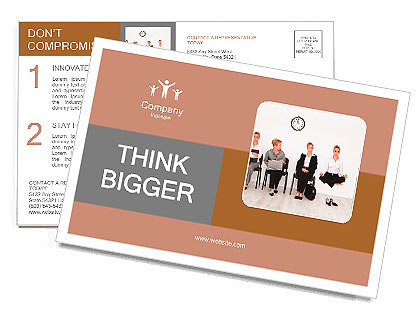 Employees with special skills wanted concept - job candidates, the yoga master Postcard Template