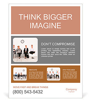 Employees with special skills wanted concept - job candidates, the yoga master Poster Template