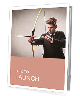 Young businessman drawing a bow Presentation Folder