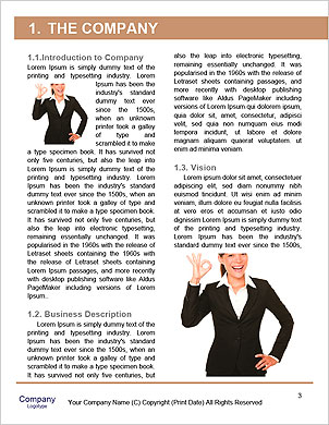 Right attitude - stand out from the crowd concept Word Template - Page 3