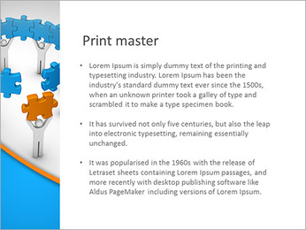 Man with last jigsaw piece for puzzle wheel PowerPoint Template