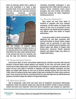 Pollution smoke going out a plug - Pollution/Ecology Concept Word Template - Page 4