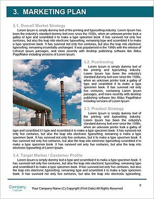 Pollution smoke going out a plug - Pollution/Ecology Concept Word Template - Page 8