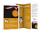 Gold medal on black with blank face for text, concept for winning or success Brochure Template