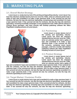 Business man with binoculars looking to the future or looking for a professional staff Word Template - Page 8