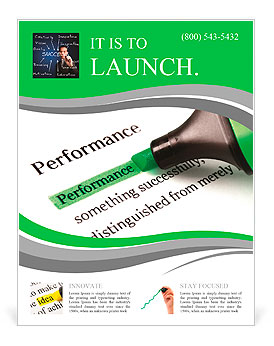 Highlighter and word performance concept background Flyer Template