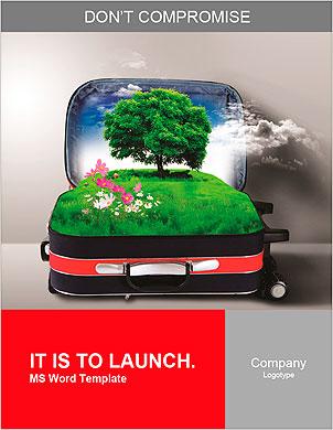 Красный чемодан с зеленой природного ландшафта в нем Словарные шаблоны - Страница 1
