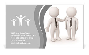 Moral support Business Card Template