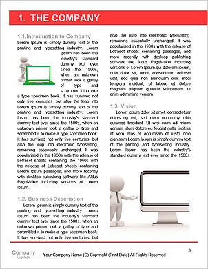 3d people person and a laptop at a office. Business partners. 3d render illustration Word Template - Page 3