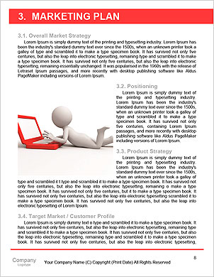 3d people person and a laptop at a office. Business partners. 3d render illustration Word Template - Page 8