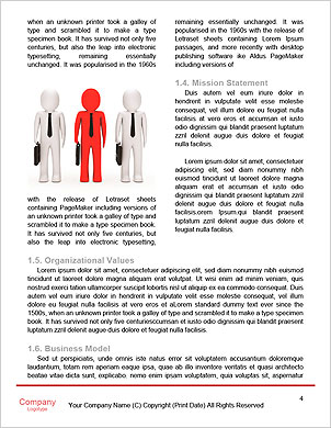 Arrow/think/choose/ a man thinking during four arrows Word Template - Page 4
