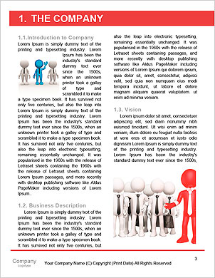 3d people - men, person at conference table. Leadership and team Word Template - Page 3