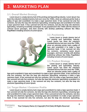 3d people - men, person at conference table. Leadership and team Word Template - Page 8