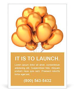 Gold narozeniny balóny luxusní zlatá. Glamour moderní party dekorace. Veselé Vánoce Šťastný Nový Ano Šablony inzerátů