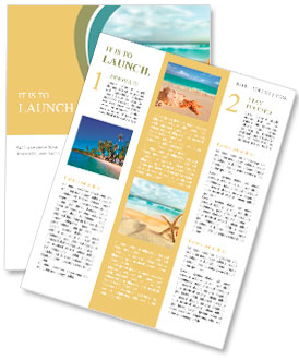 Starfish on the Beach. Newsletter Template