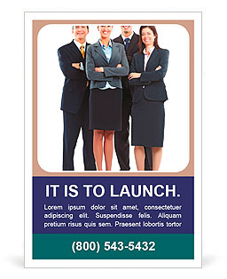 Group of business people. Business team. Ad Template