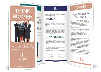 Group of business people. Business team. Brochure Template
