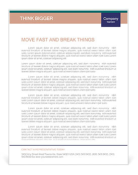 Group of business people. Business team. Letterhead Template