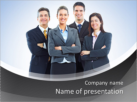 Group of business people. Business team. PowerPoint Template