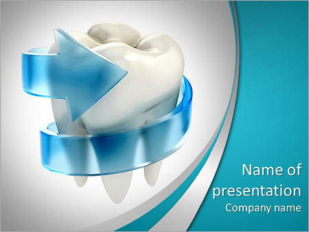 Teeth protection 3d concept PowerPoint Template