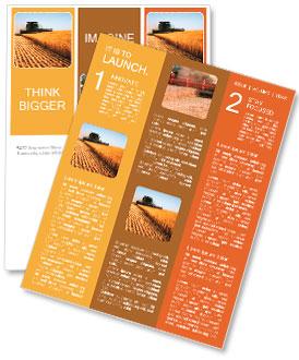 Combine harvester Newsletter Template