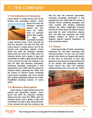 Combine harvester Word Template - Page 3