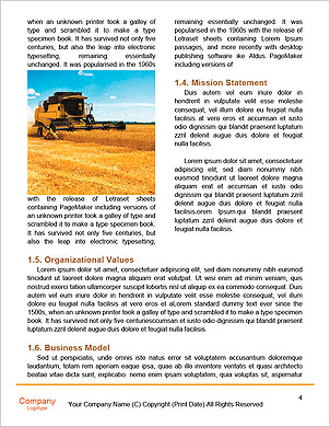 Combine harvester Word Template - Page 4