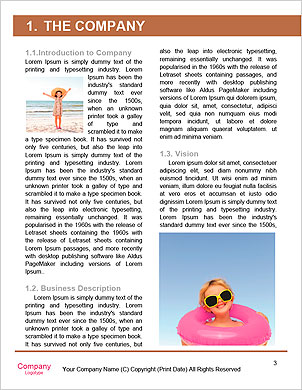Young female running on the beach Word Template - Page 3